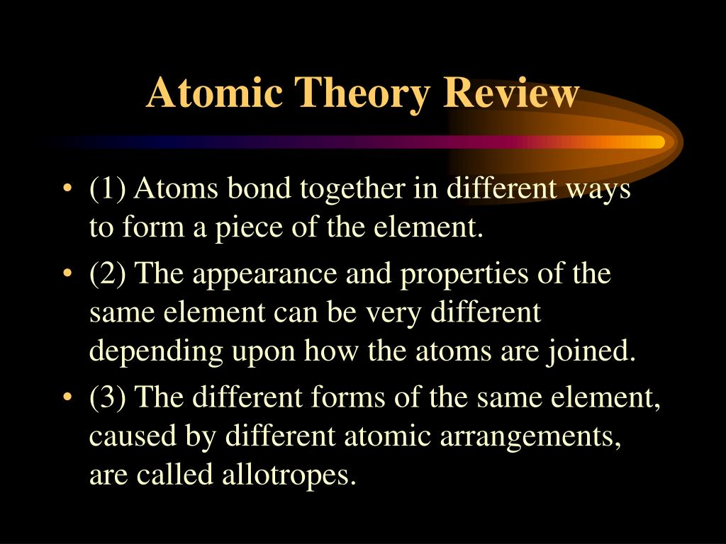 Atomic Theory Review