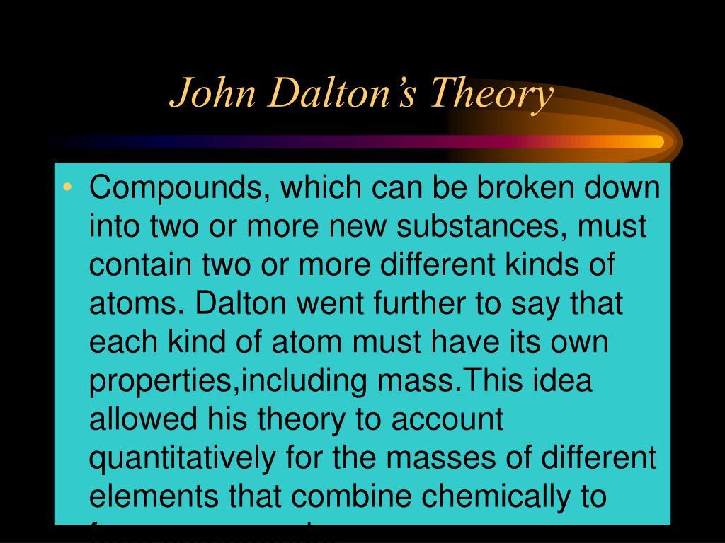 John Dalton's Theory