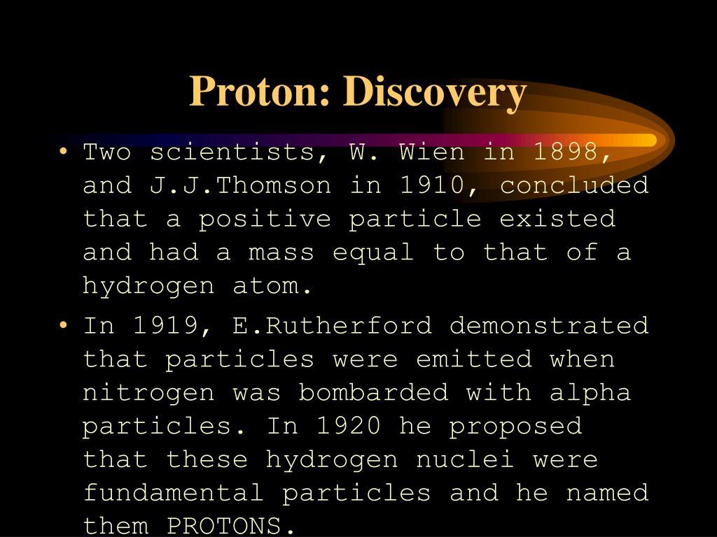 Proton: Discovery