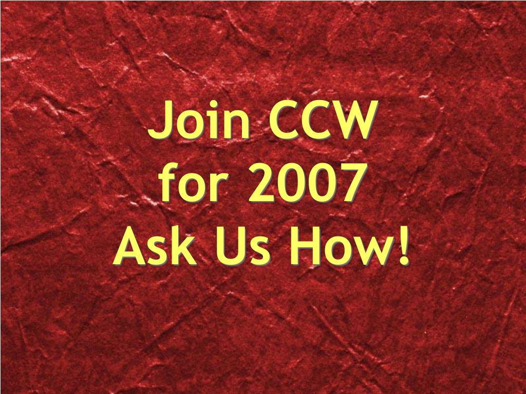 Join CCW