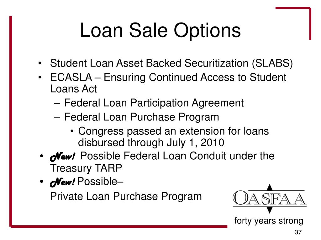 Loan Sale Options