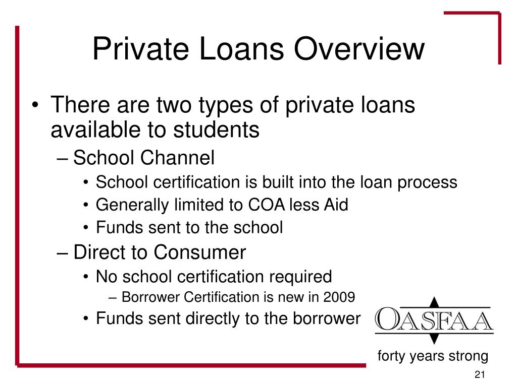 Private Loans Overview