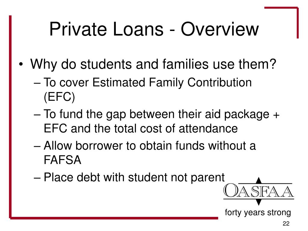 Private Loans - Overview