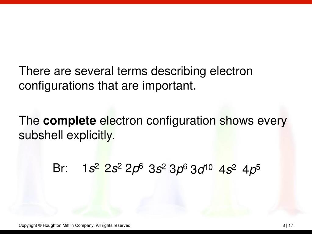 There are several terms describing electron configurations that are important.