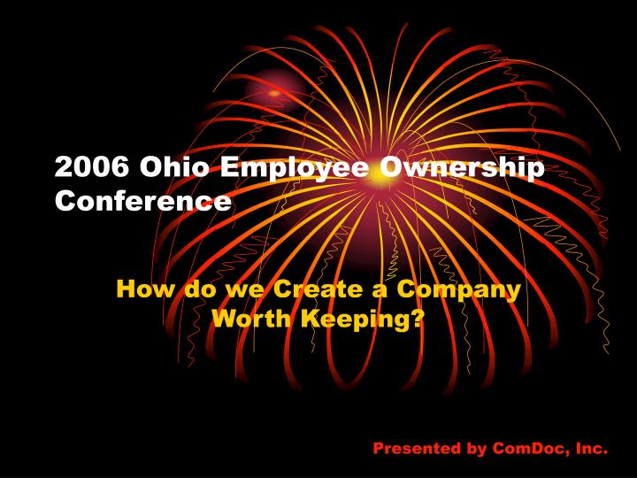 2006 ohio employee ownership conference