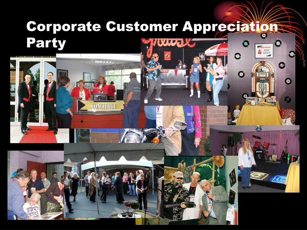 Corporate Customer Appreciation Party