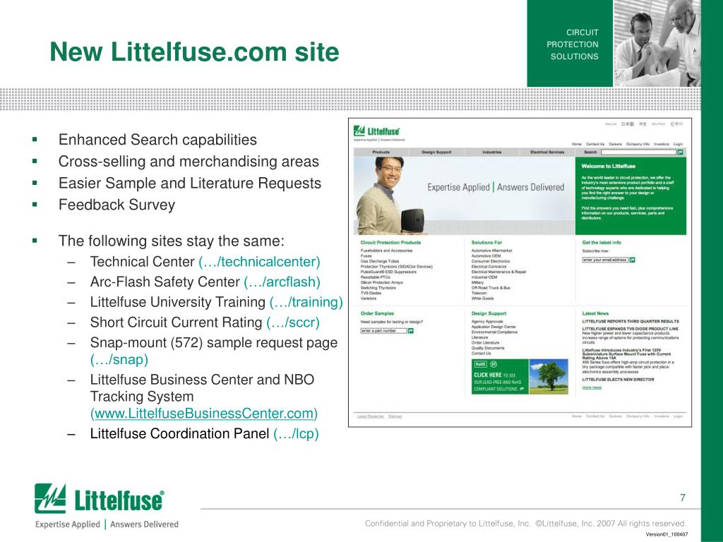 New Littelfuse.com site