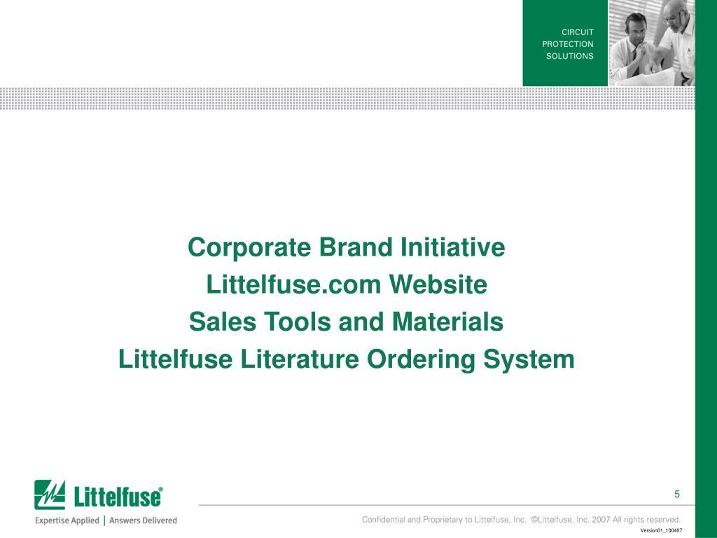 Corporate Brand Initiative