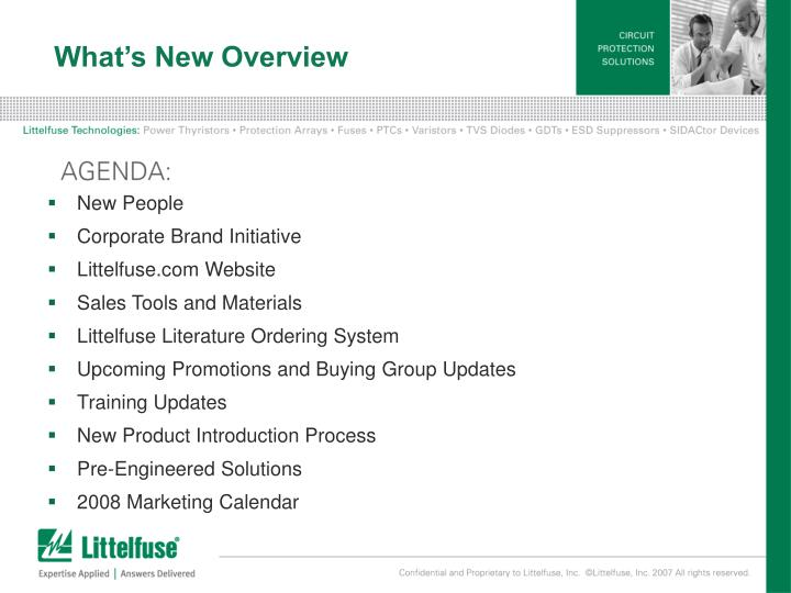 What s new overview
