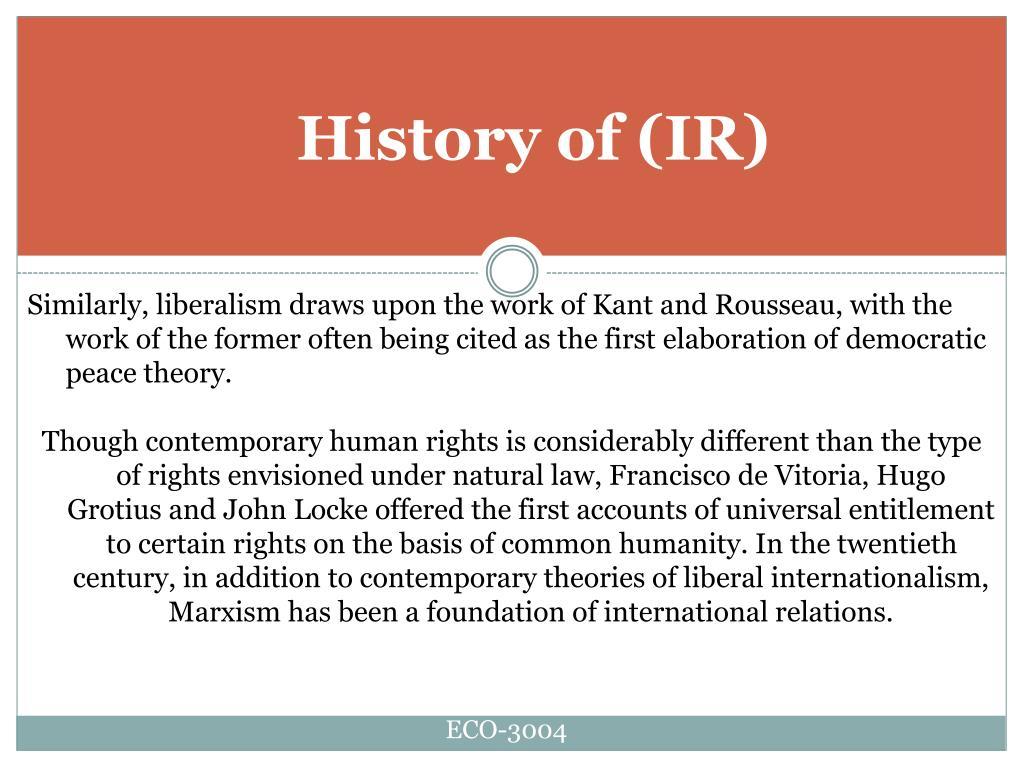 History of(IR)