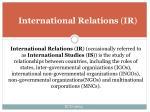 international relations ir