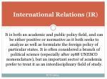 international relations ir3