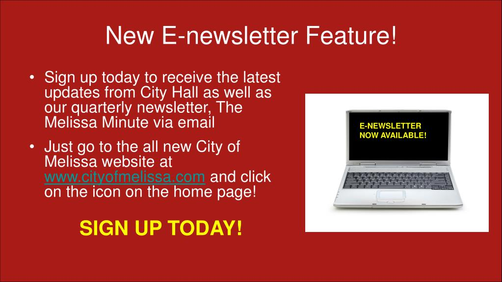 New E-newsletter Feature!