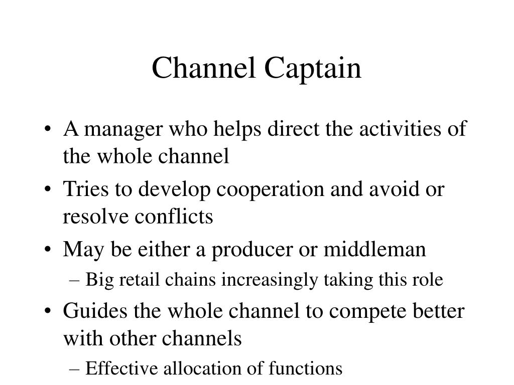 Channel Captain