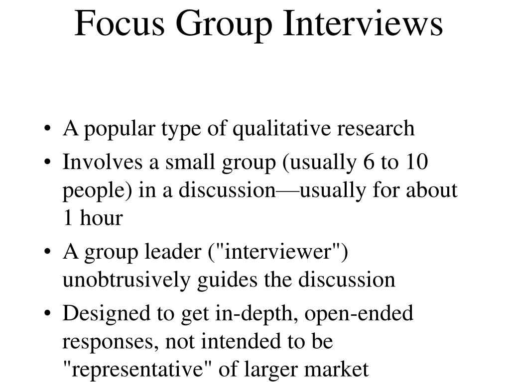 Focus Group Interviews