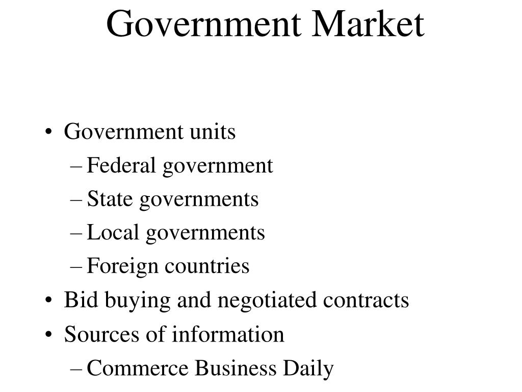 Government Market