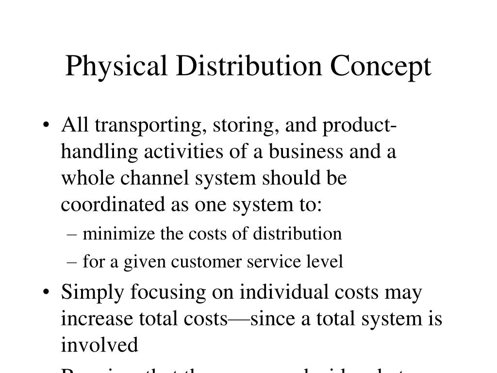 Physical Distribution Concept