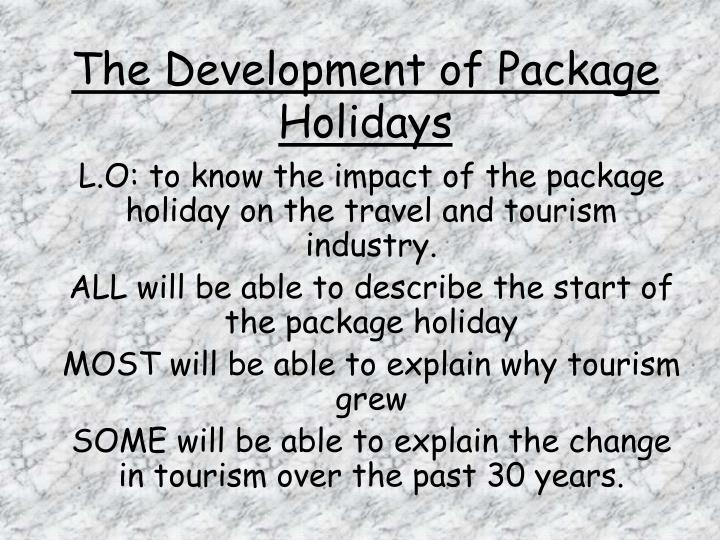 The development of package holidays l.jpg