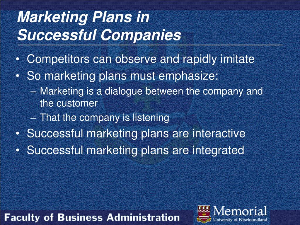 Marketing Plans in