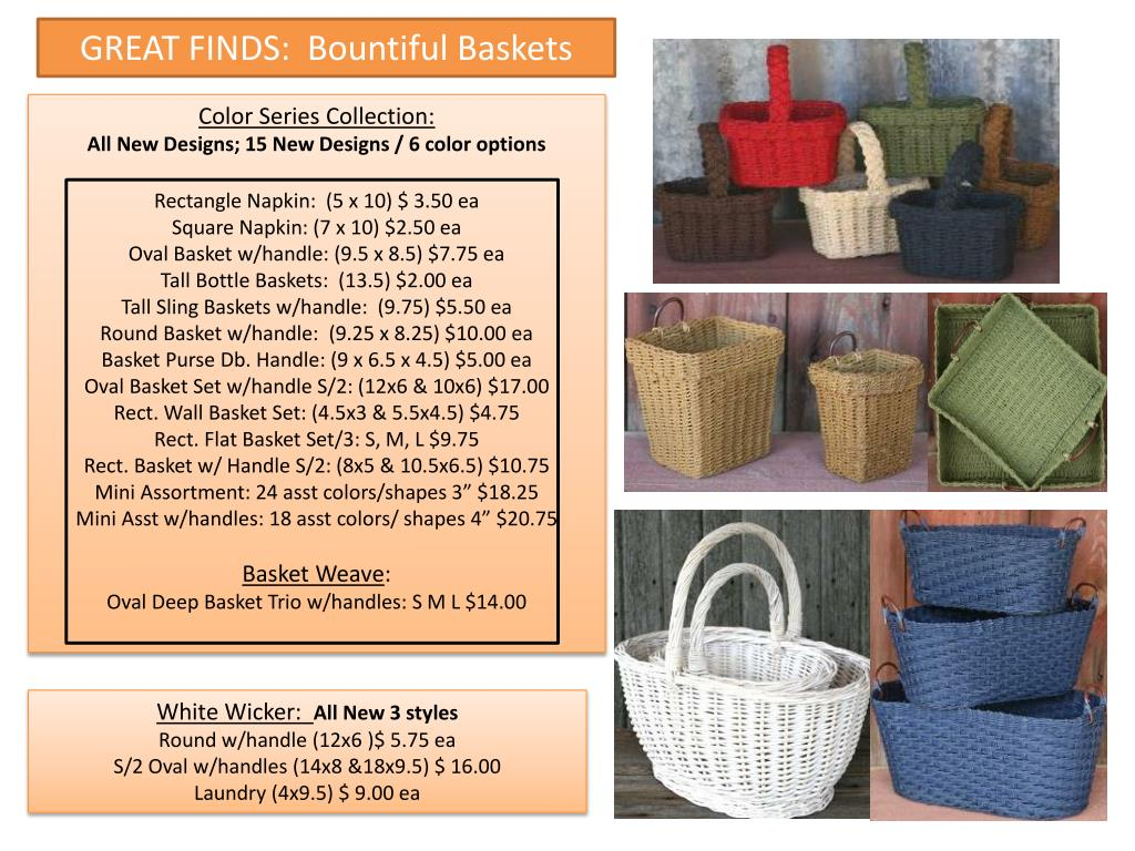 GREAT FINDS:  Bountiful Baskets