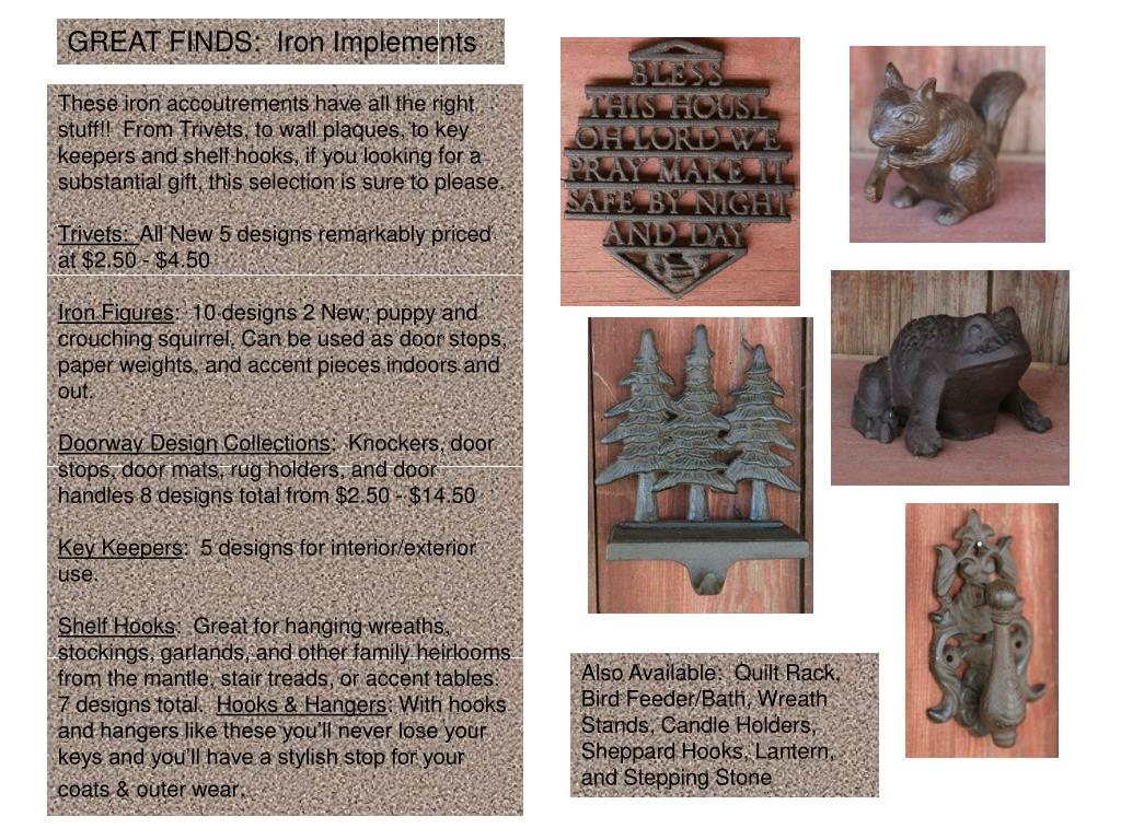 GREAT FINDS:  Iron Implements