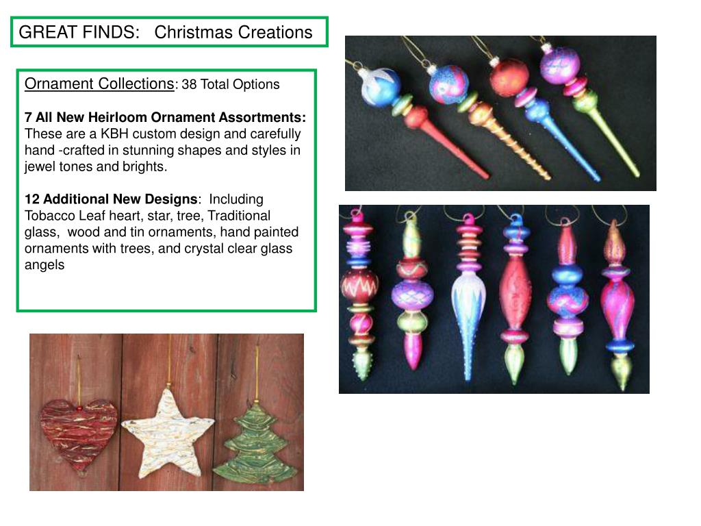 GREAT FINDS:   Christmas Creations