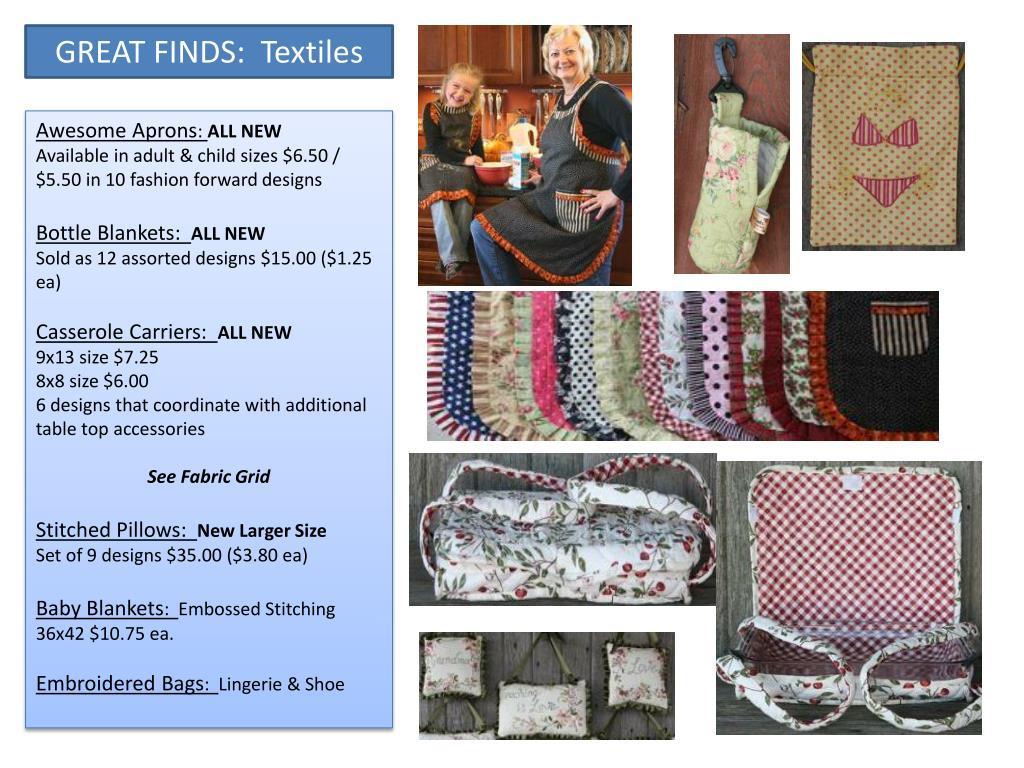 GREAT FINDS:  Textiles