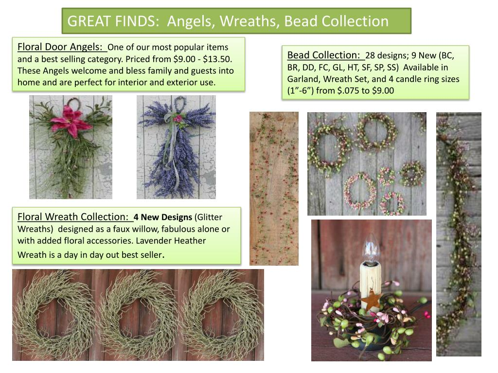 GREAT FINDS:  Angels, Wreaths, Bead Collection