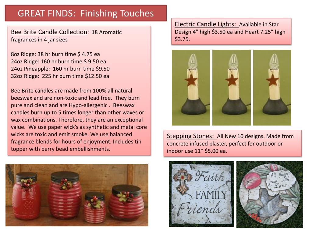 GREAT FINDS:  Finishing Touches