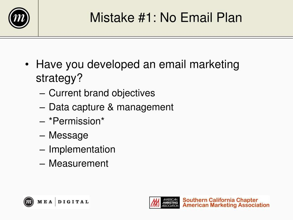 Mistake #1: No Email Plan