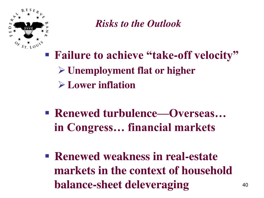 Risks to the Outlook