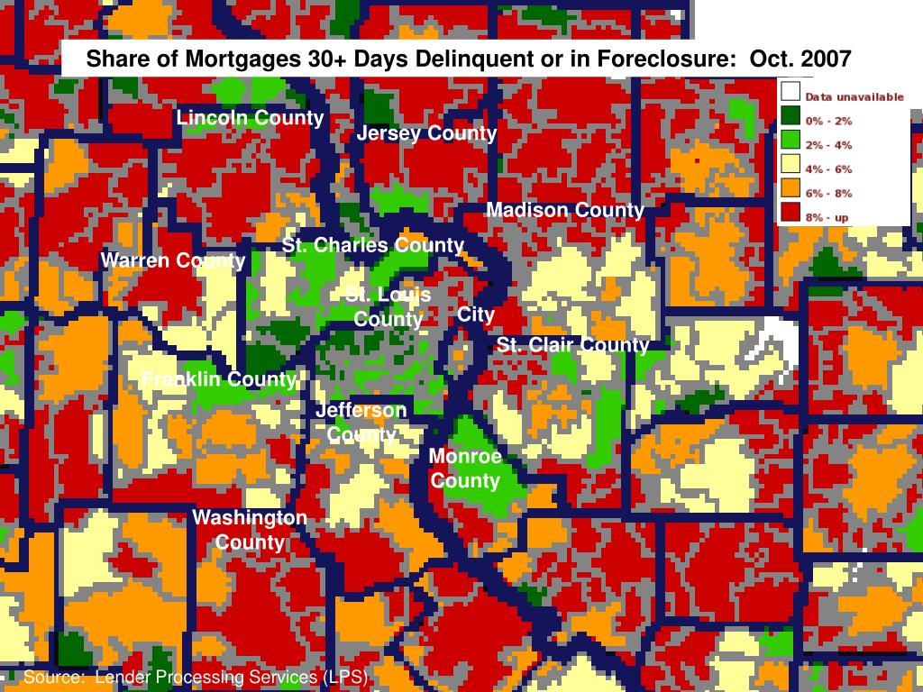 Share of Mortgages 30+ Days Delinquent or in Foreclosure:  Oct. 2007