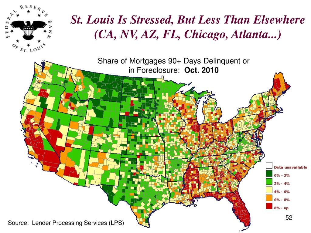 St. Louis Is Stressed, But Less Than Elsewhere (CA, NV, AZ, FL, Chicago, Atlanta...)
