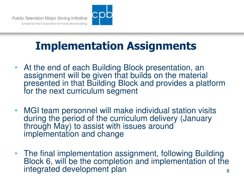 Implementation Assignments