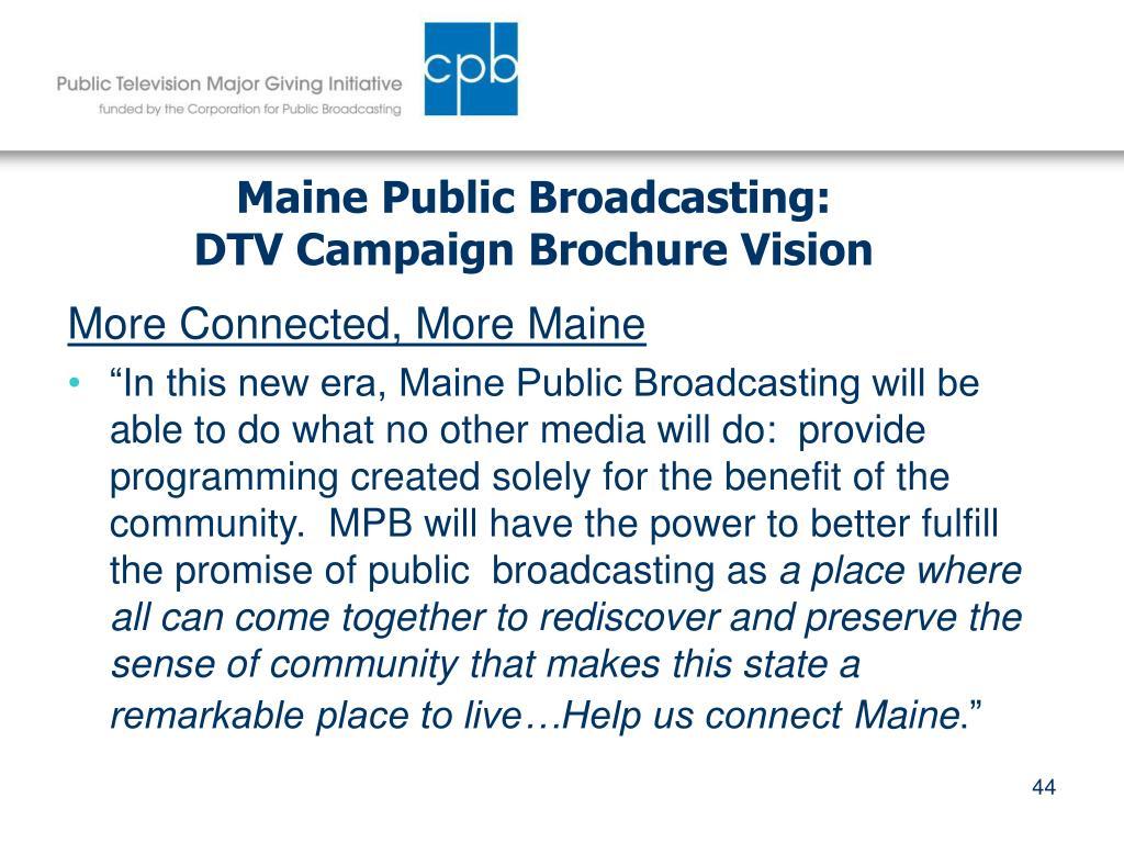 Maine Public Broadcasting: