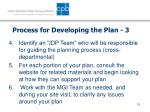 process for developing the plan 3