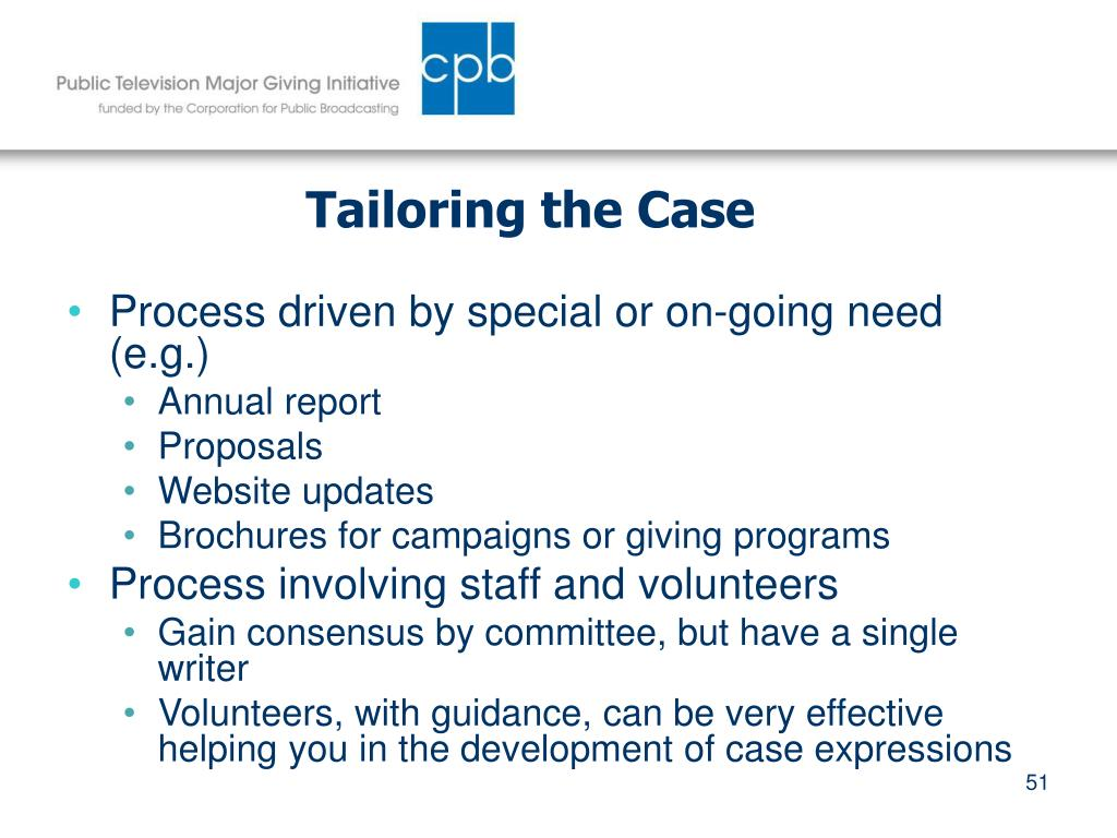 Tailoring the Case