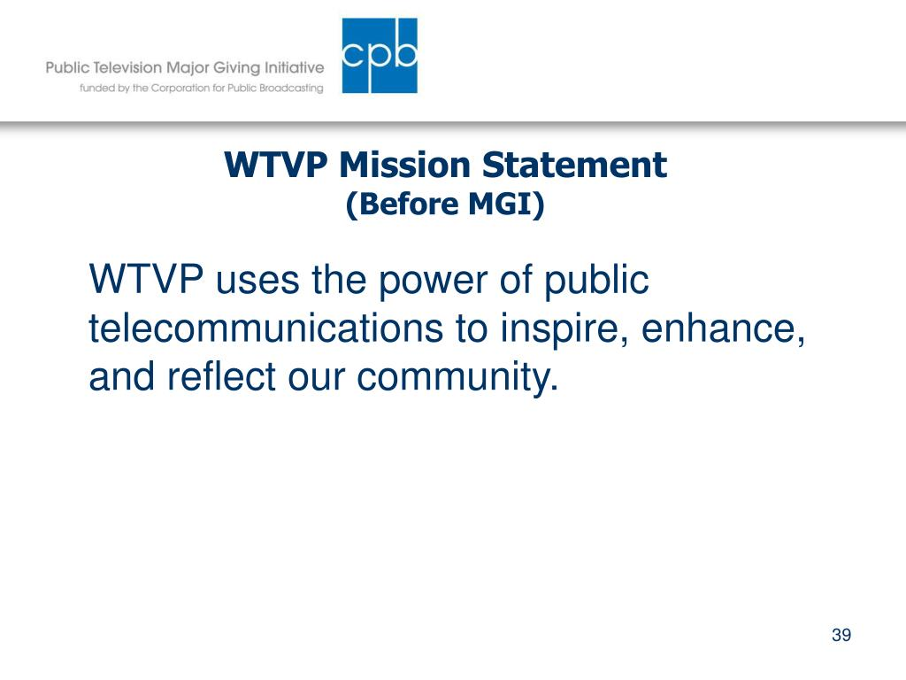 WTVP Mission Statement