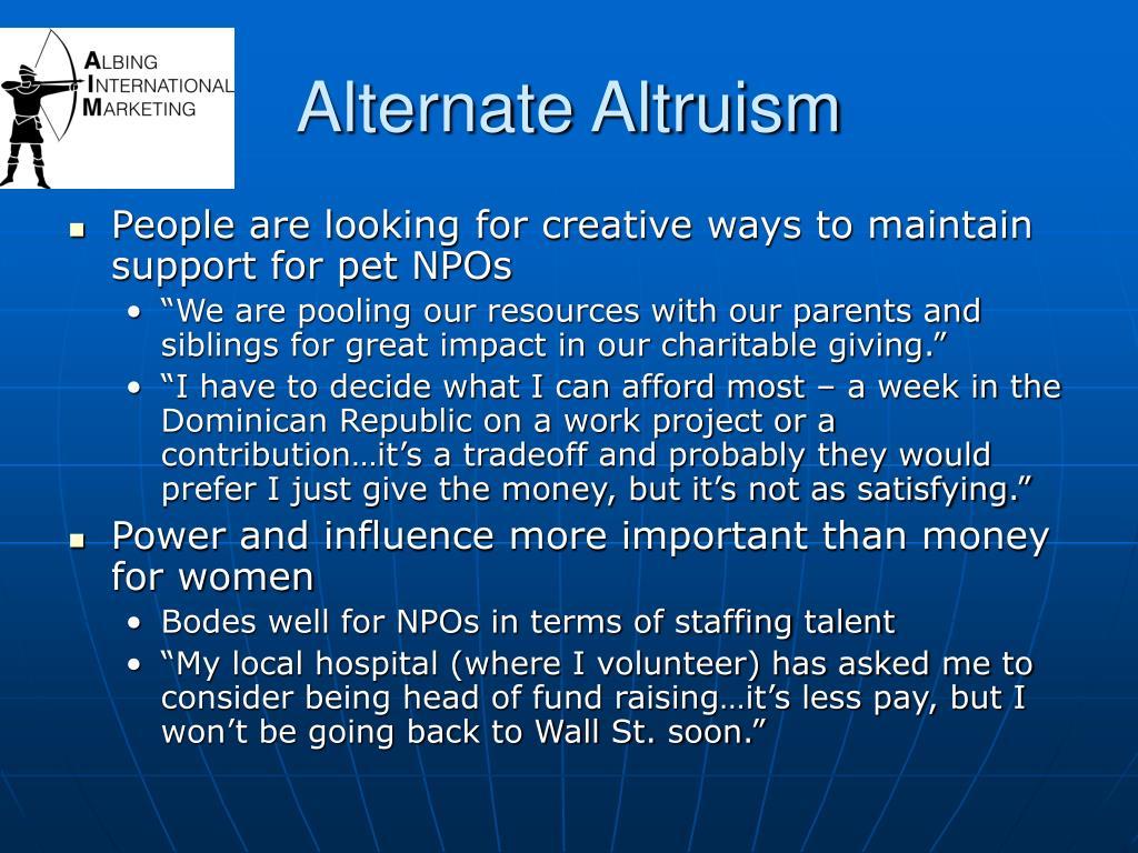 Alternate Altruism