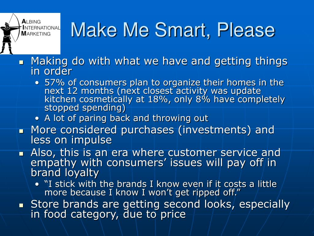 Make Me Smart, Please