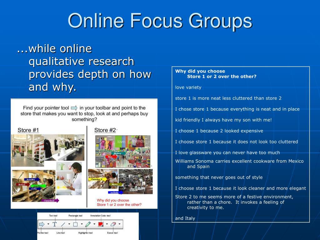 Online Focus Groups