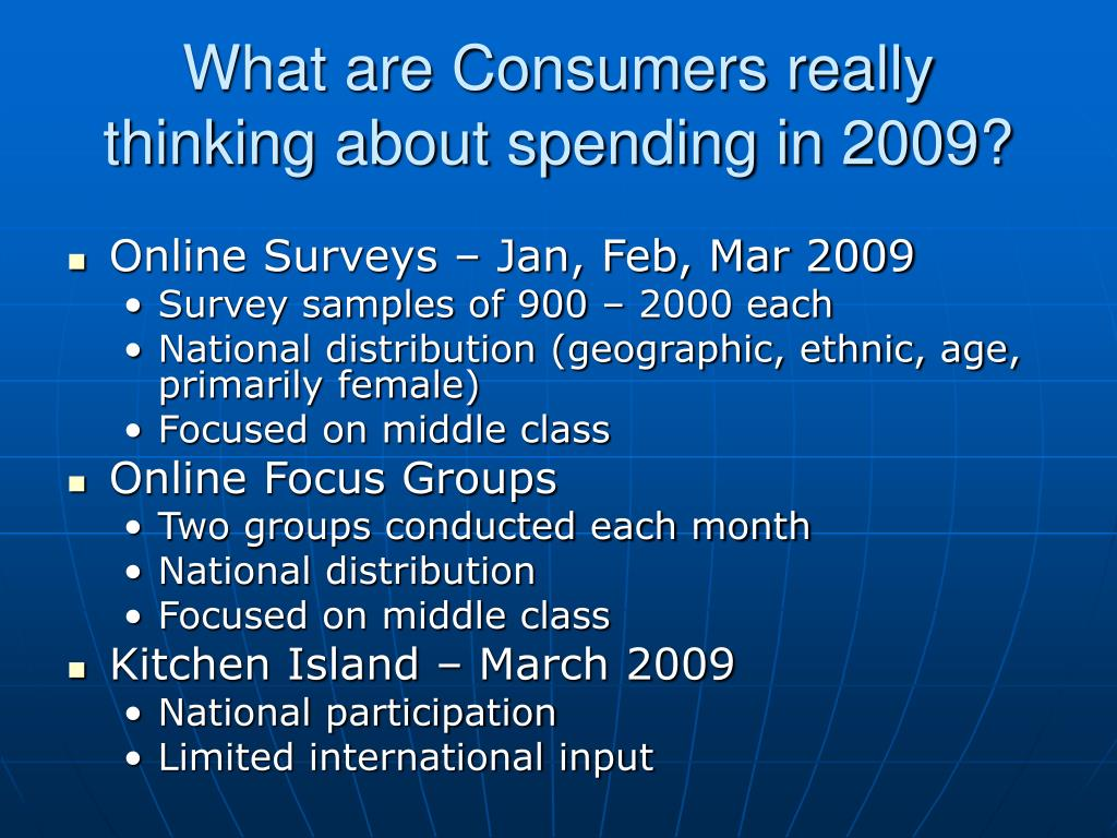 What are Consumers really thinking about spending in 2009?