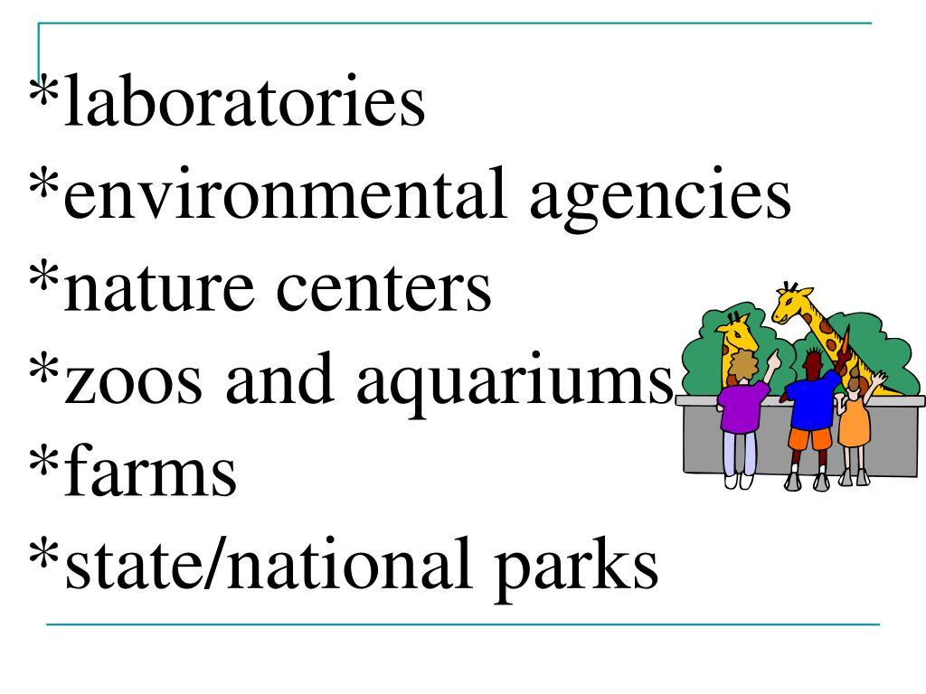 *laboratories *environmental agencies