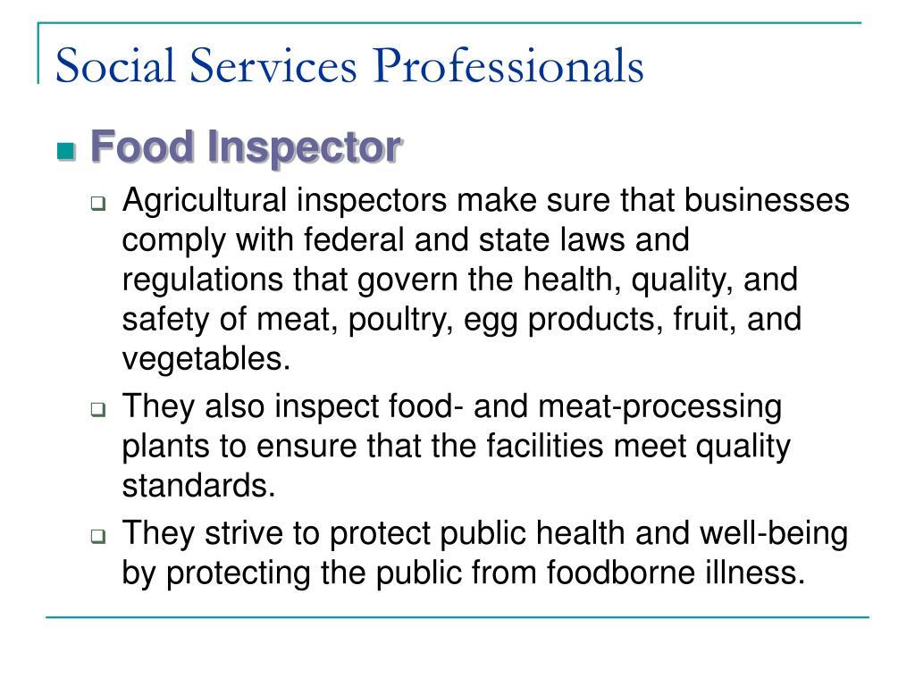 Social Services Professionals
