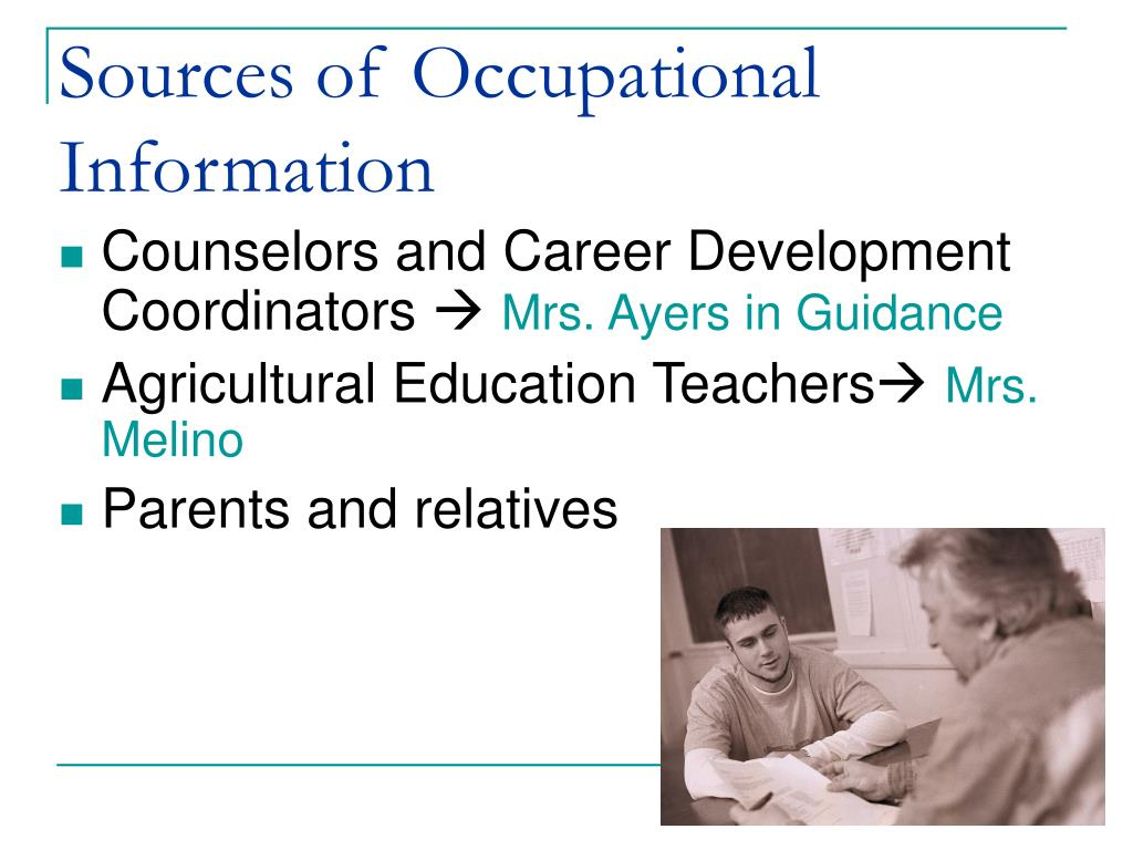 Sources of Occupational Information
