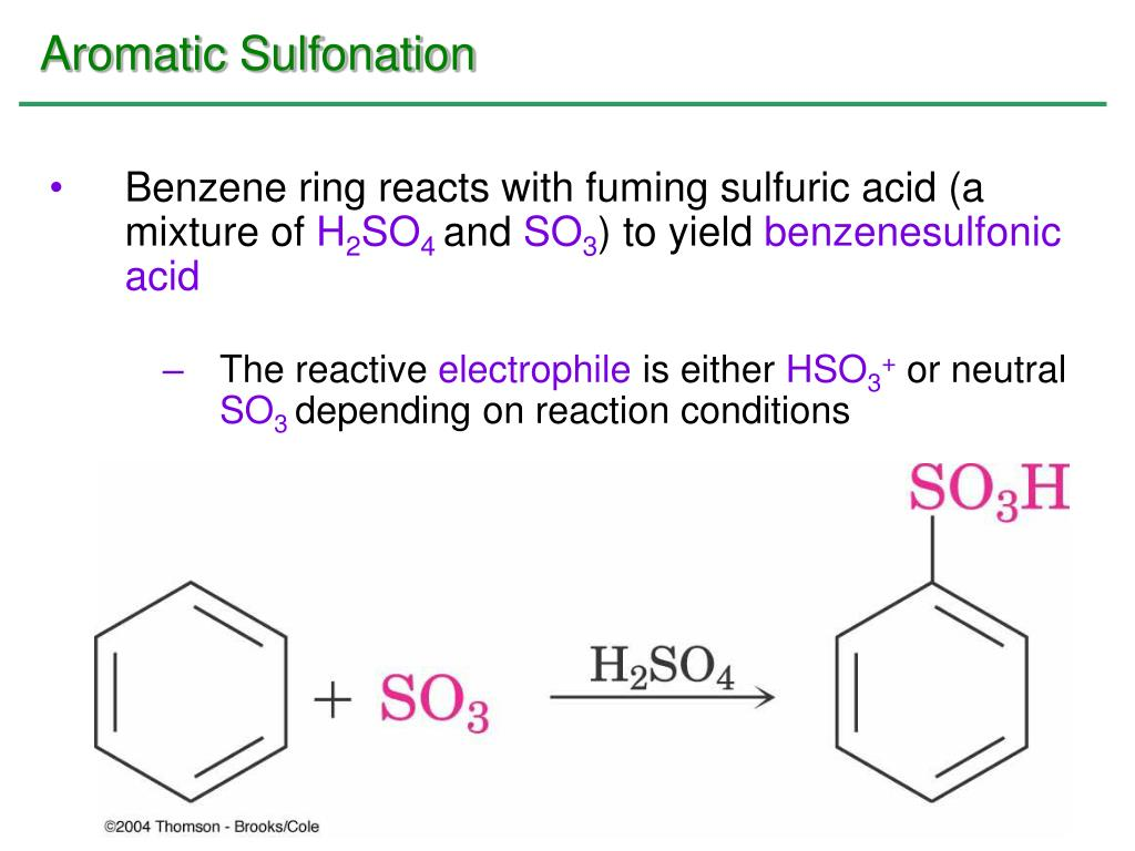 Aromatic Sulfonation