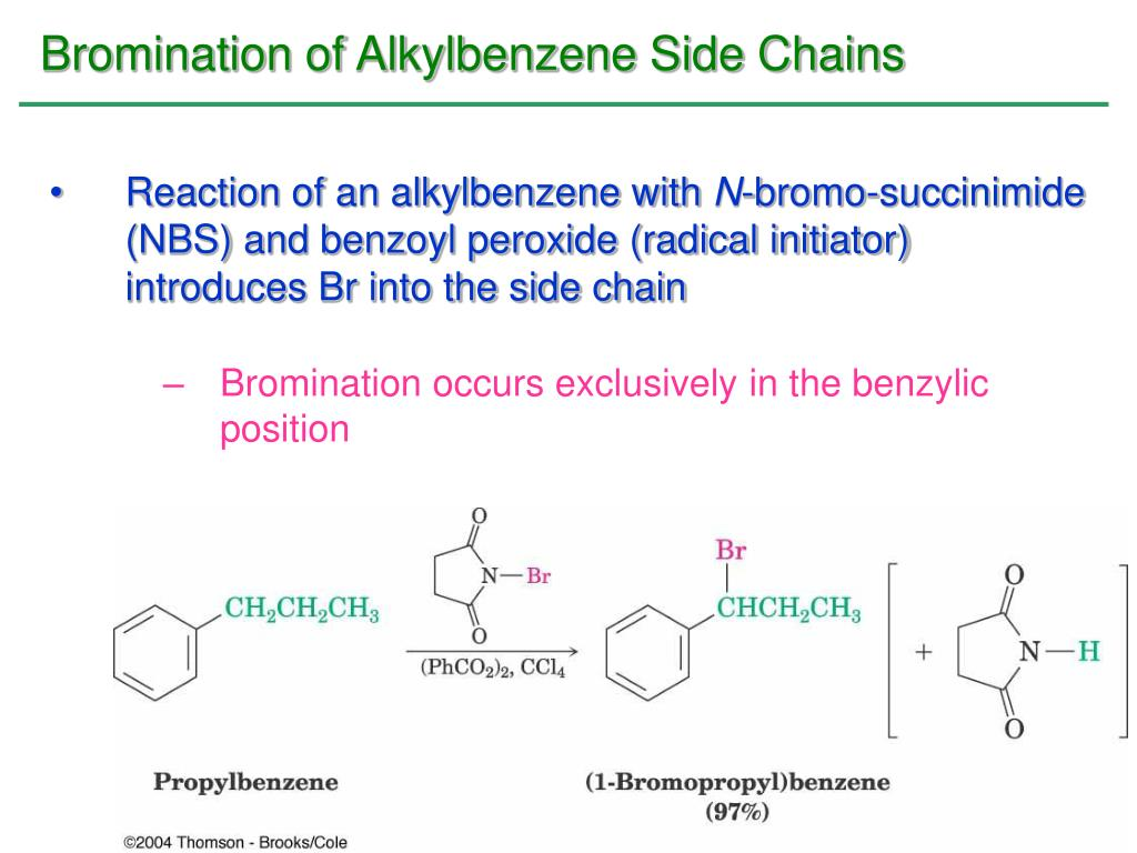 Bromination of Alkylbenzene Side Chains