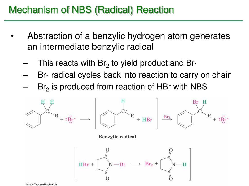 Mechanism of NBS (Radical) Reaction