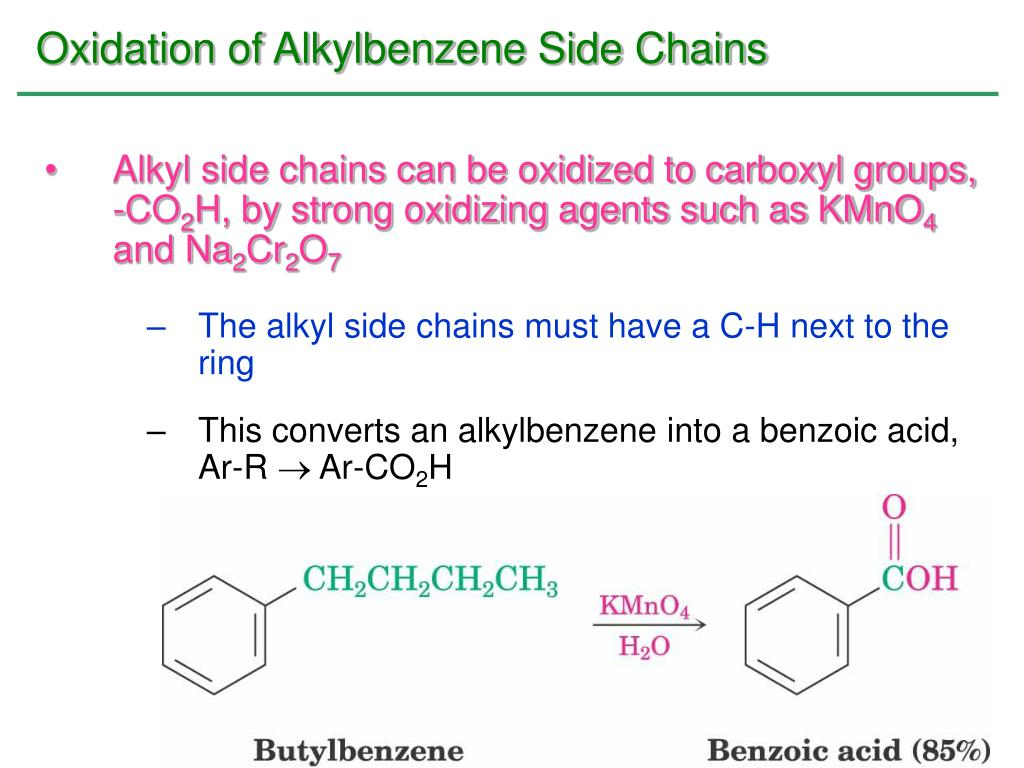 Oxidation of Alkylbenzene Side Chains