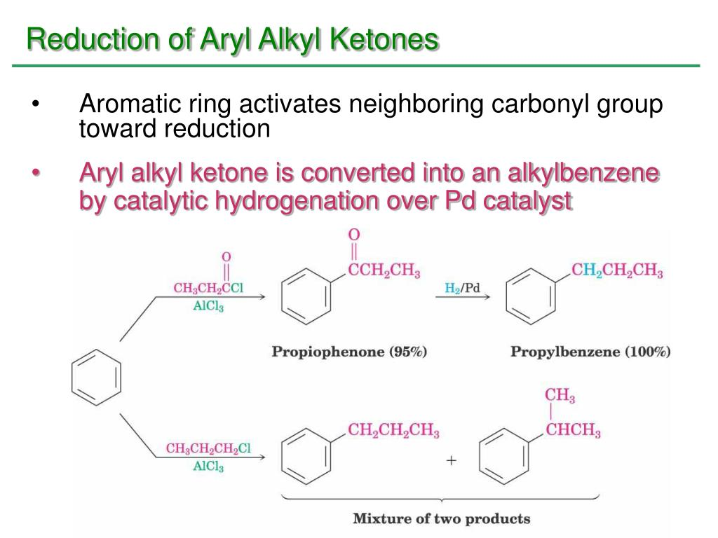 Reduction of Aryl Alkyl Ketones